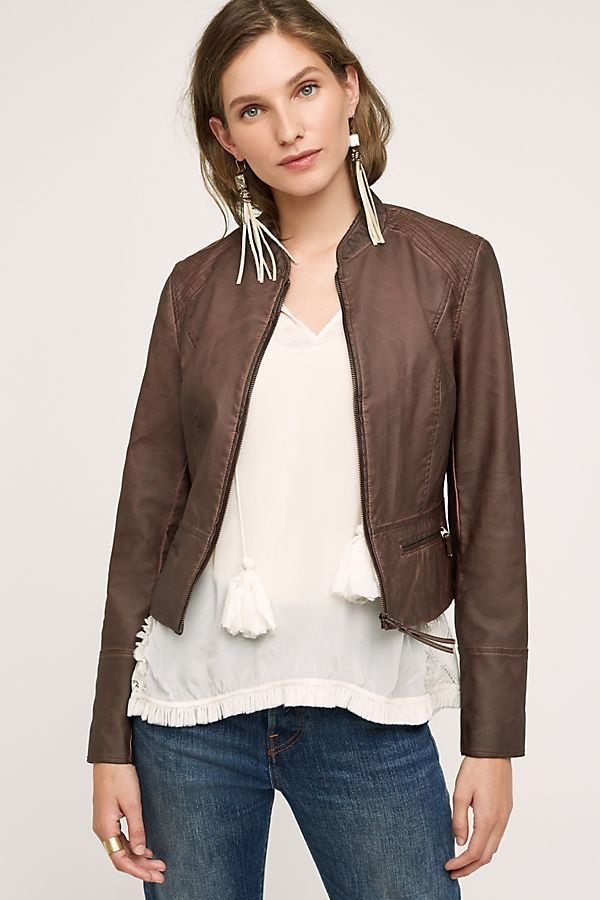 670cf85c6 Dara Vegan Leather Jacket