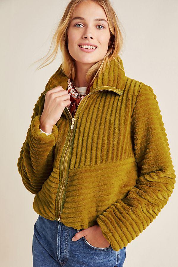 Slide View: 1: Natasha Faux Fur Jacket
