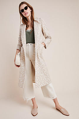 Jacquard Leopard Coat by Helene Berman