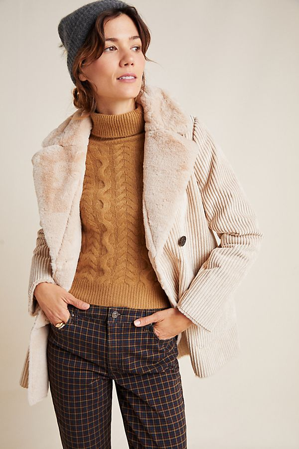 Slide View: 1: Meredith Corduroy Coat