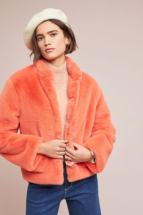 8007b36353d Mango Faux Fur Jacket