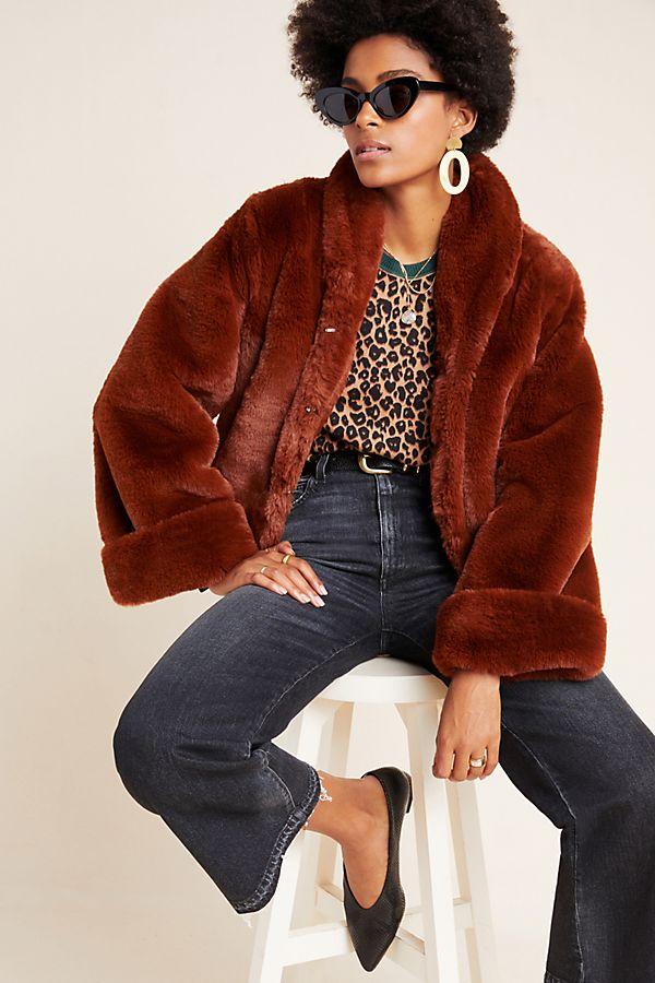 Slide View: 1: Stella Faux Fur Jacket
