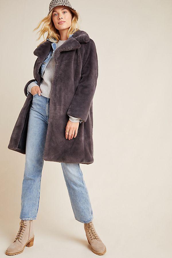 Slide View: 1: Remsen Faux Fur Coat