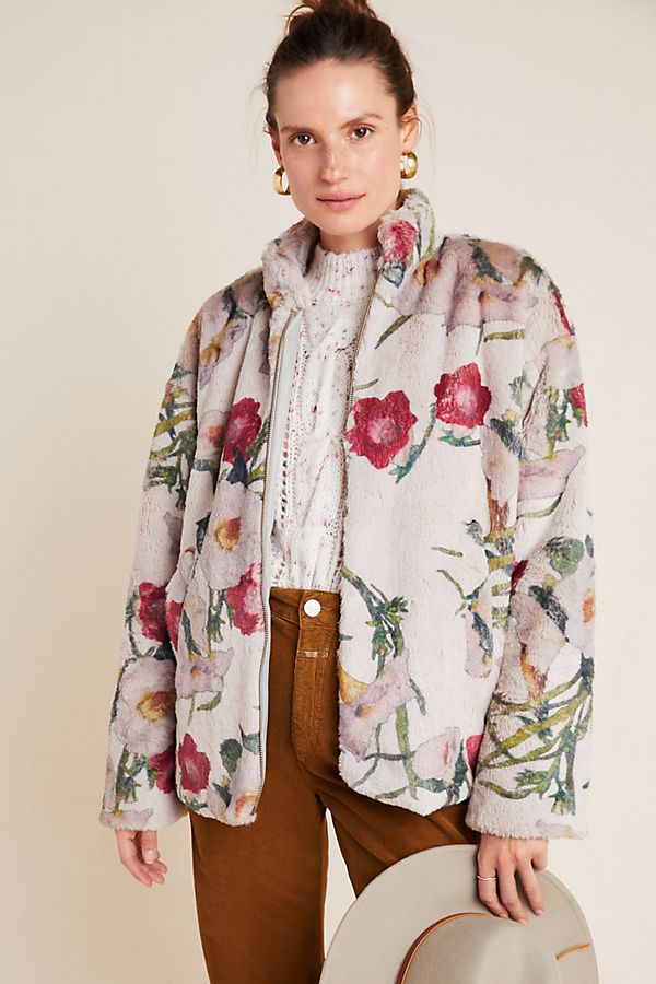 Slide View: 1: Florita Faux Fur Jacket