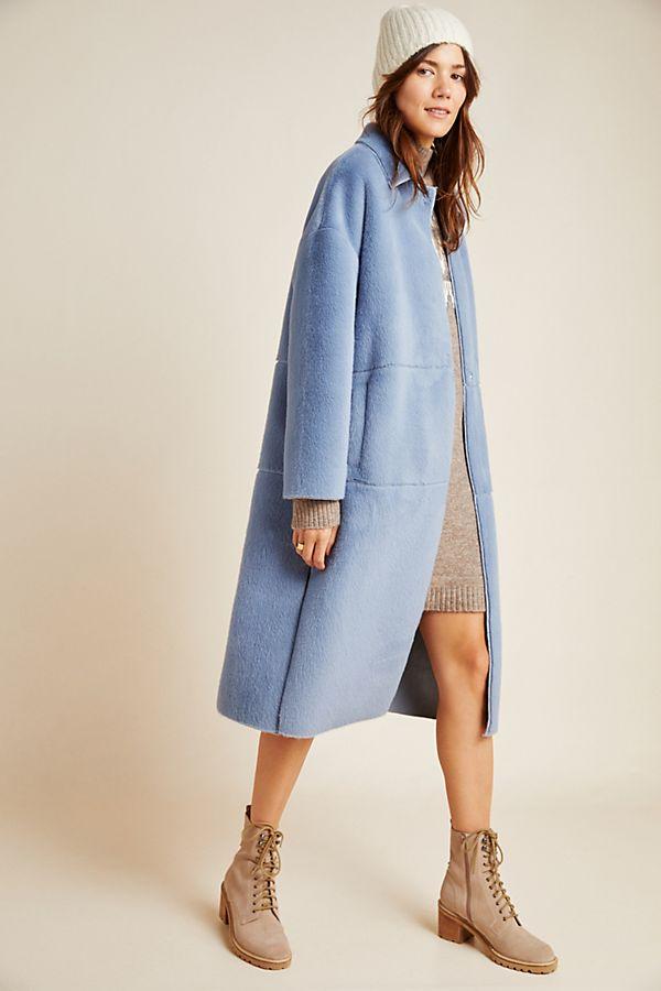 Slide View: 1: Elsa Faux Fur Coat