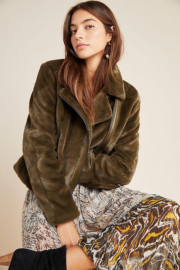 Slide View: 1: Leonora Faux Fur Jacket