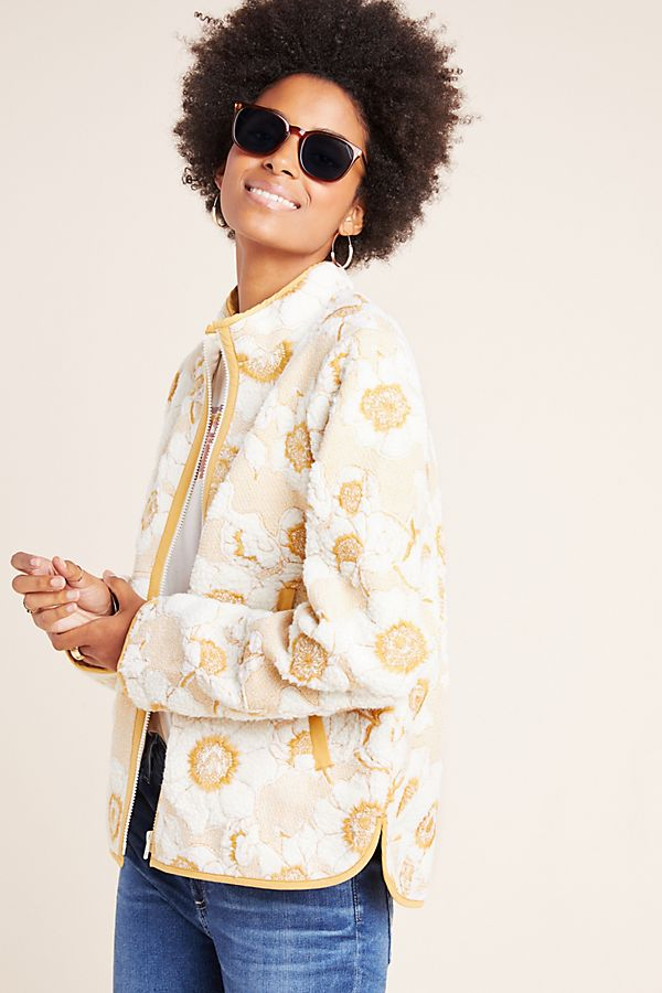 Slide View: 1: Tilly Embroidered Sherpa Jacket