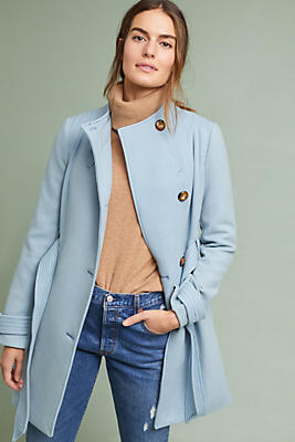 Shania Belted Coat by Cartonnier