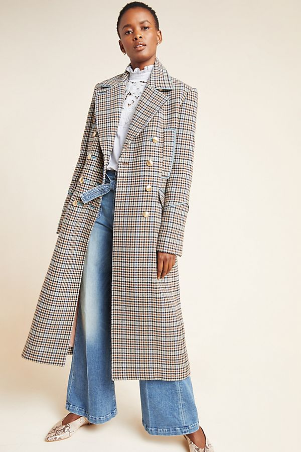 Slide View: 1: Rebecca Taylor Windsor Plaid Coat