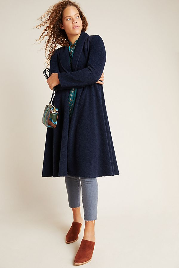 Slide View: 1: Cassia Sueded Sherpa Coat