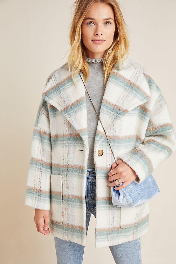 Slide View: 1: Elsa Plaid Coat