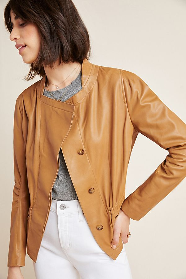 Slide View: 1: Rooney Leather Jacket