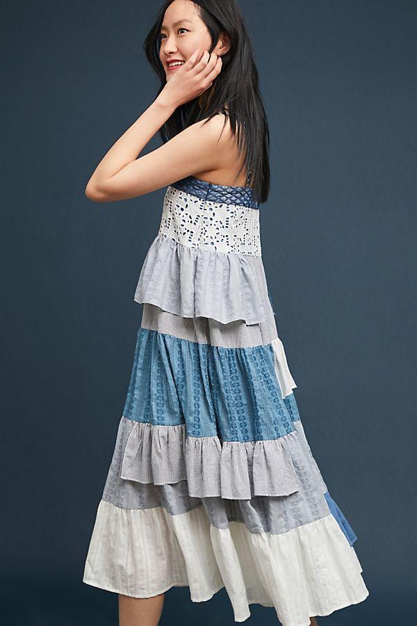 371d3b120381 Tiered Patchwork Midi Dress   Anthropologie
