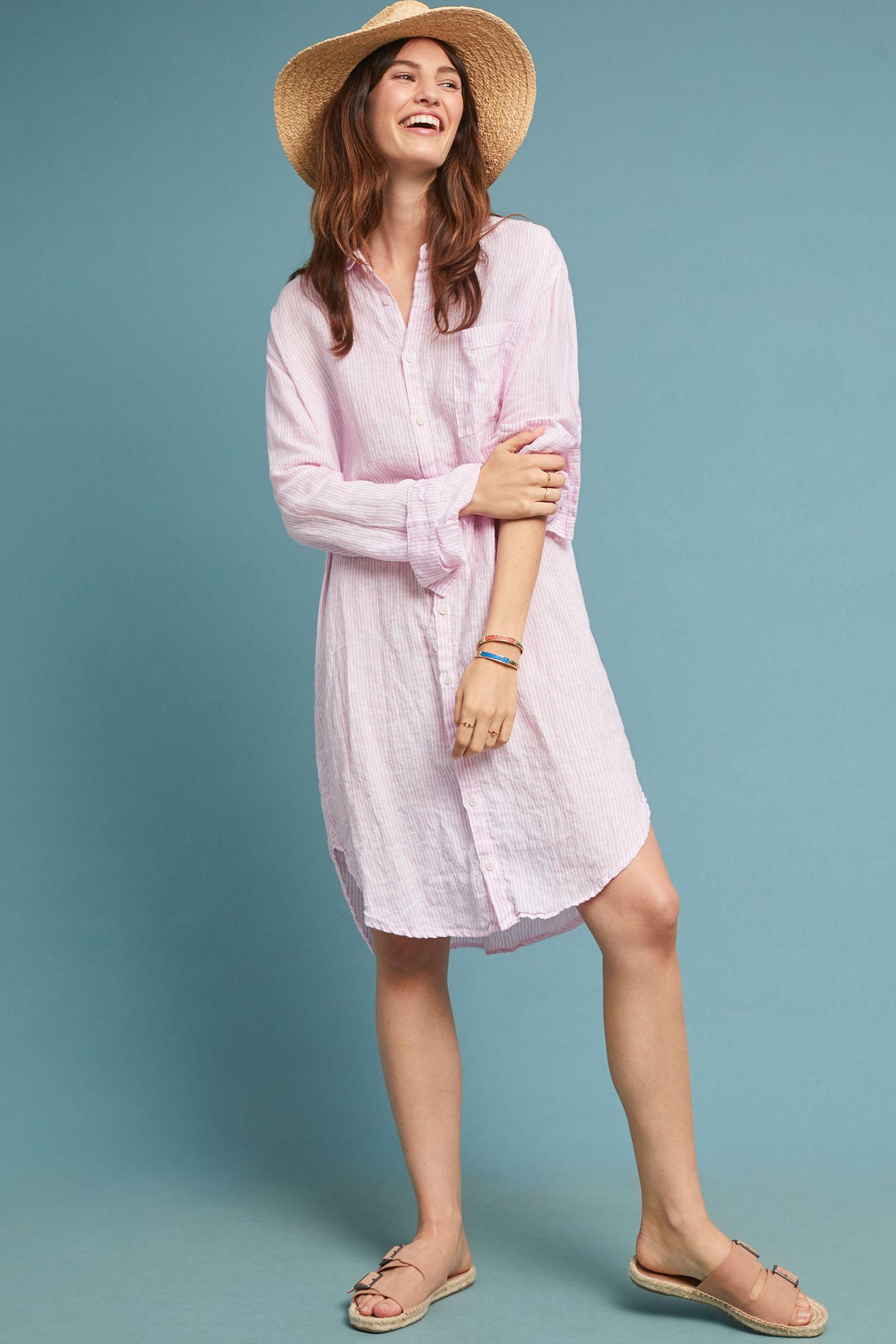 f2eeeb9f7d260d Oversized Linen Shirtdress