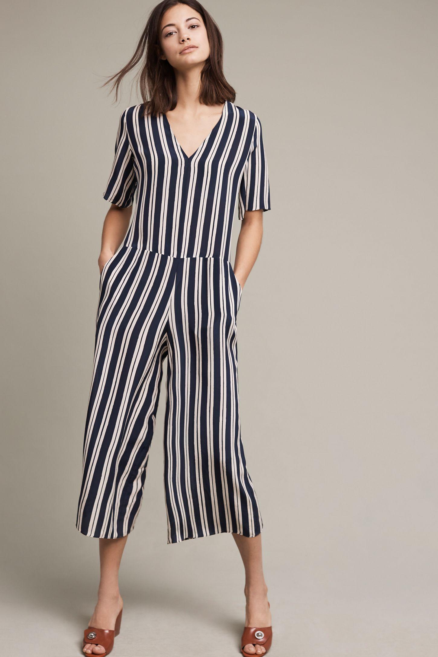 a5dace9f8d9 Hart Striped Silk Jumpsuit