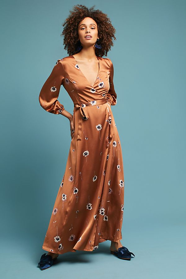 30831e0970ca12 Printed Wrap Maxi Dress | Anthropologie