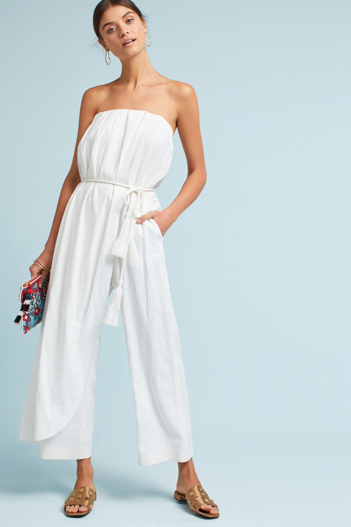 790ebfcbc93 Marley Strapless Linen Jumpsuit