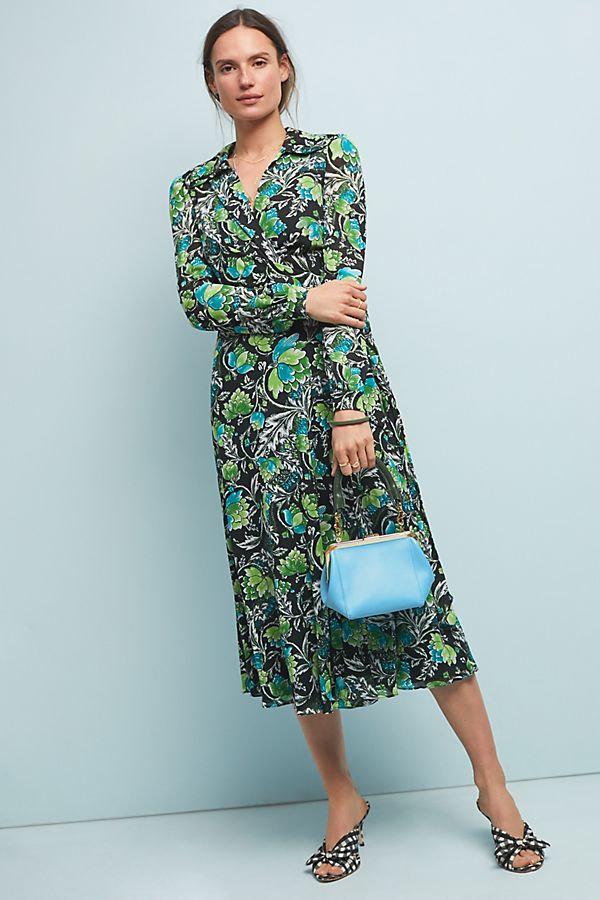 Slide View: 1: Diane von Furstenberg Phoenix Wrap Dress