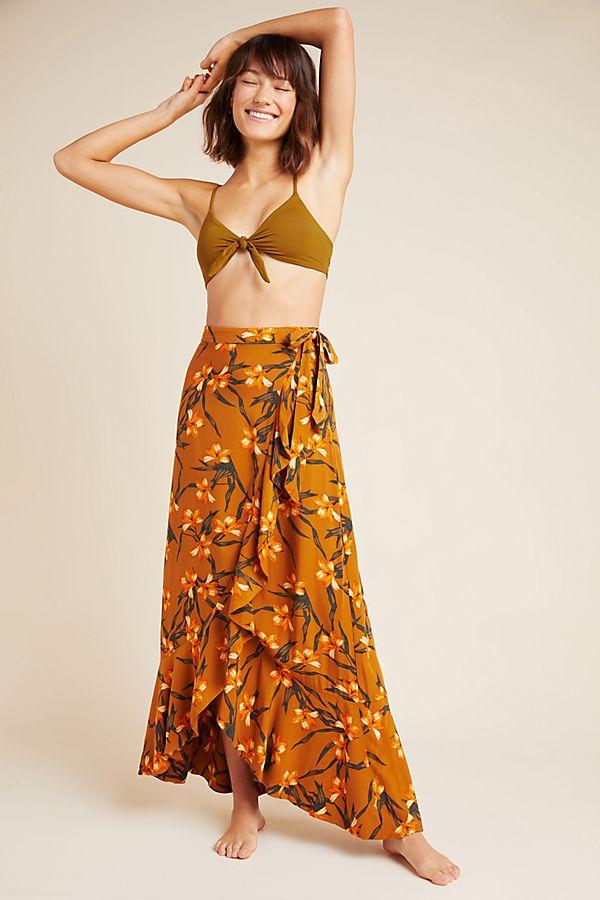 Slide View: 1: L Space Desiree Wrap Maxi Skirt
