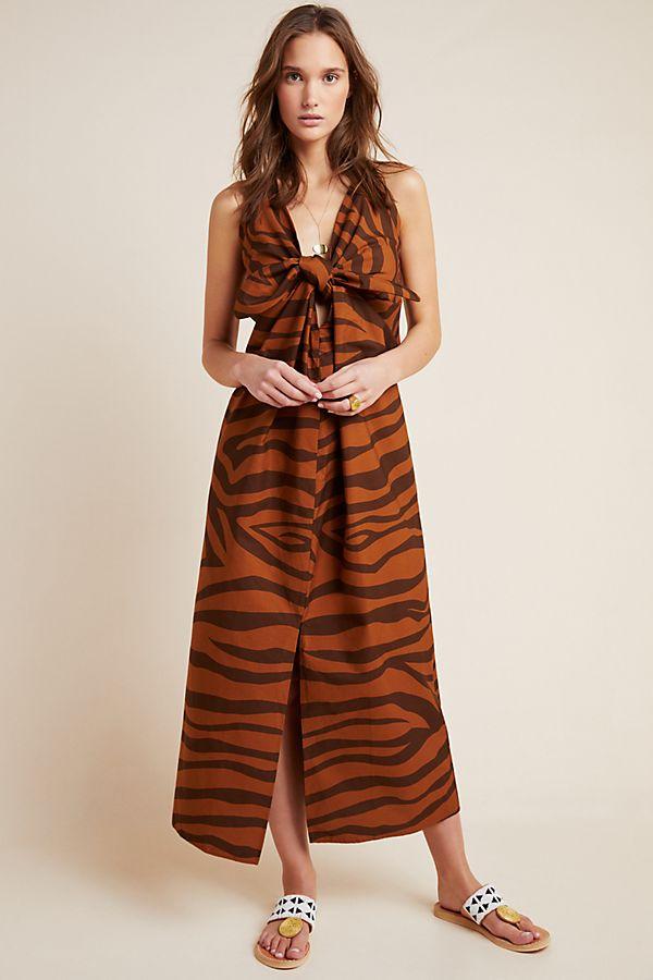 Slide View: 1: Mara Hoffman Tiger Cover-Up Dress
