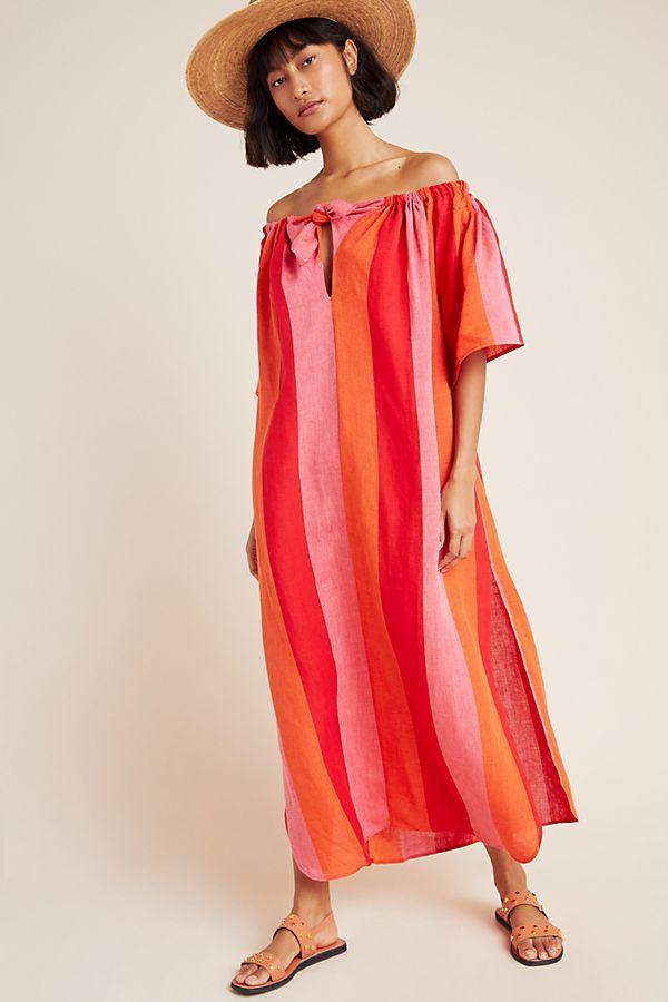Slide View: 1: Mara Hoffman Linen Cover-Up Dress
