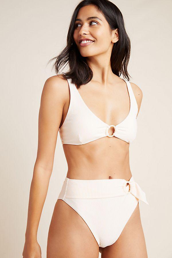 Slide View: 1: Onia Anais Belted Bikini Bottoms