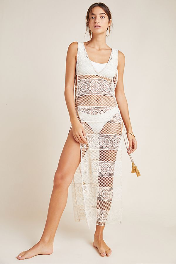 Slide View: 1: Joy Lace Cover-Up Dress