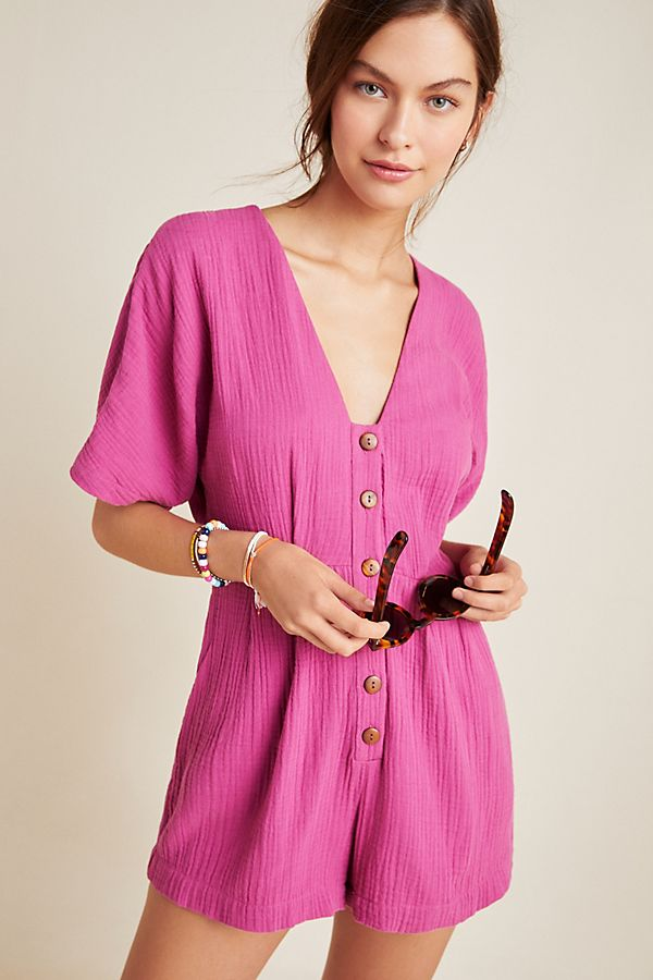 Slide View: 1: Seafolly Rosa Button-Front Romper