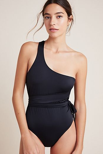 c37f5bcce6599 HAH One-Shoulder One-Piece Swimsuit
