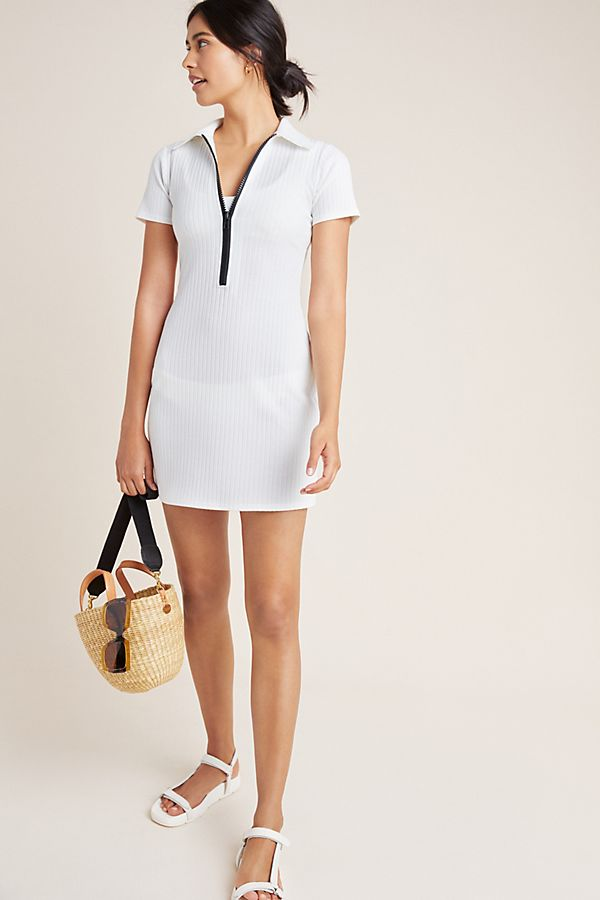 Slide View: 1: Solid & Striped Polo Zip Dress