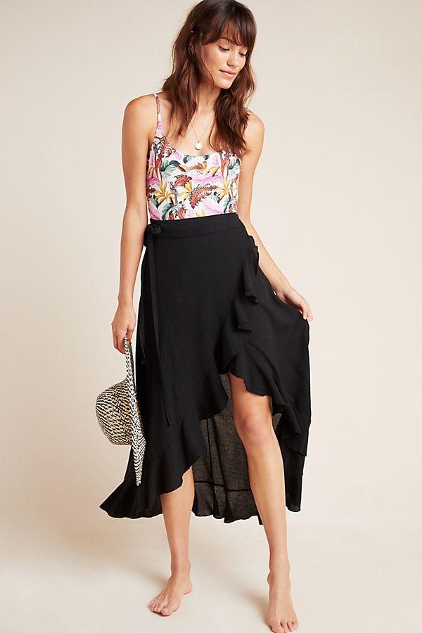 Slide View: 1: Solana Wrap Skirt