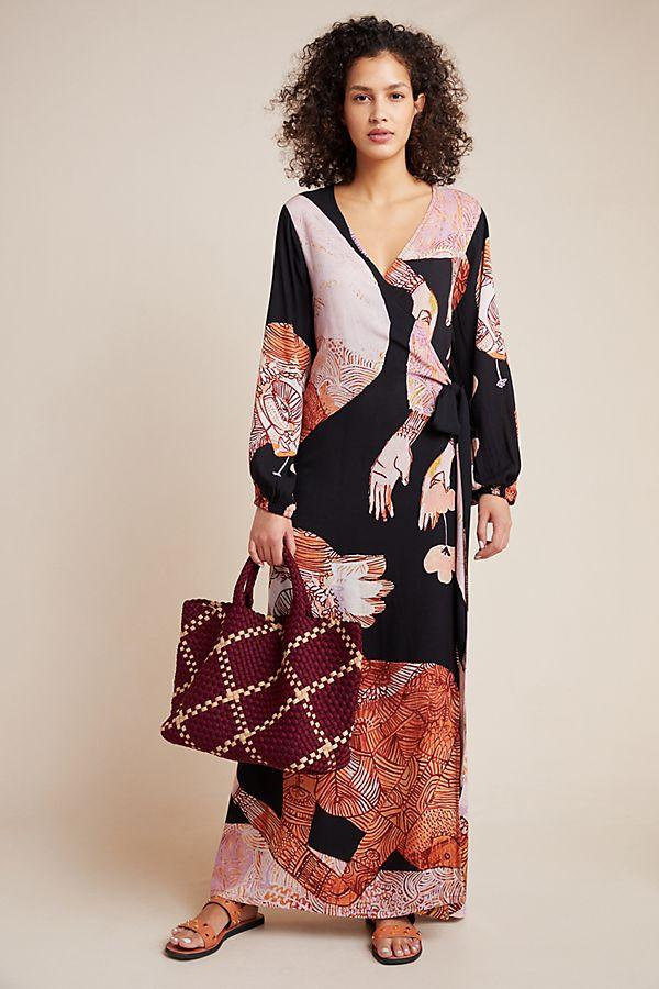 Slide View: 1: Jai Vasicek Marika Cover-Up Wrap Dress