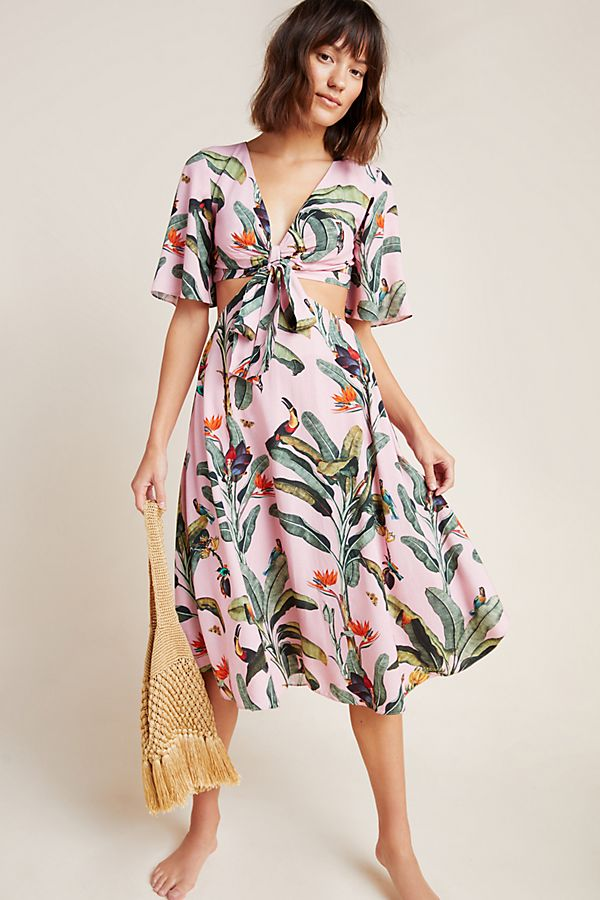 Slide View: 1: PatBO Tropical Cover-Up Dress