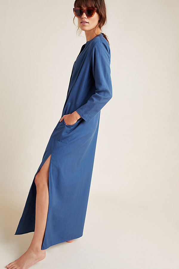Slide View: 1: Sandy Sheer Linen Cover-Up Dress