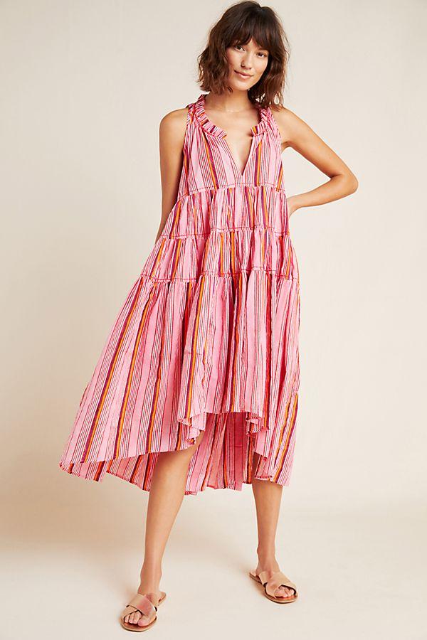 Slide View: 1: Sasha Tiered Midi Dress