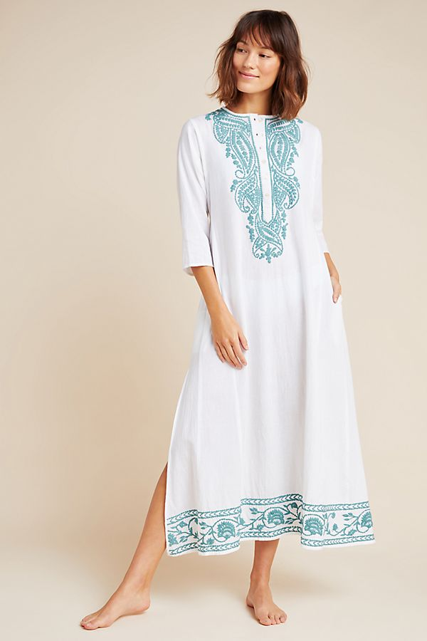 Slide View: 1: Roller Rabbit Koma Embroidered Caftan