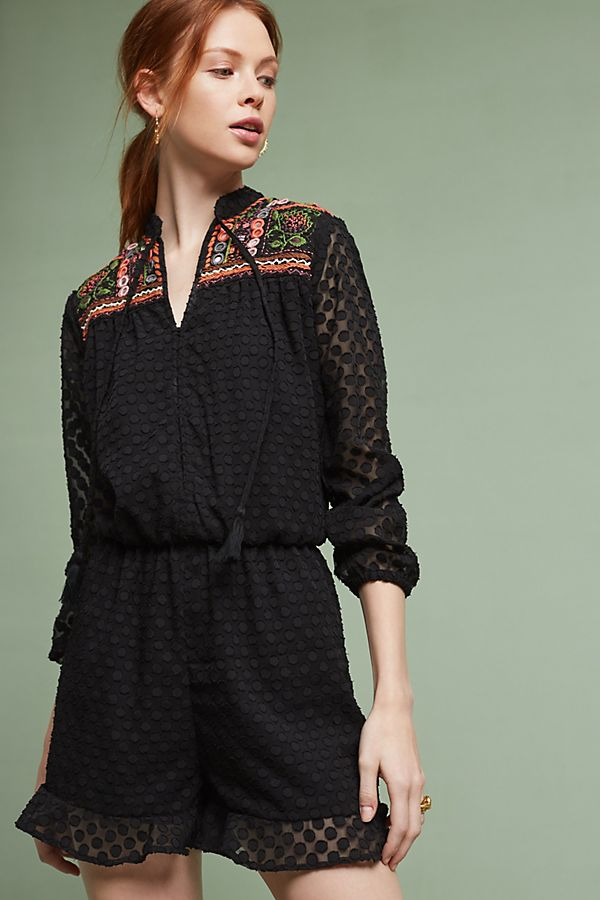 54776efbf1f4 Evensong Embroidered Romper