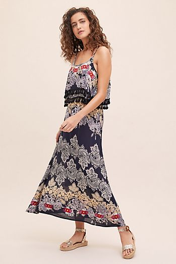 cf588733dac Taselled-Printed Beach Dress