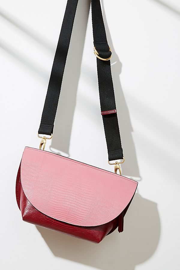 06aa070786f Two-Tone Textured-Leather Crossbody Bag | Anthropologie UK