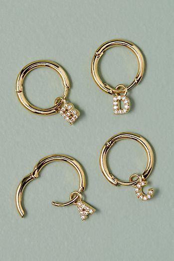Monogram Jewelled Hoop Earrings