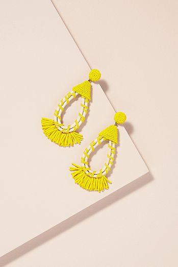 Avena Mixed-Media Chandelier Earrings