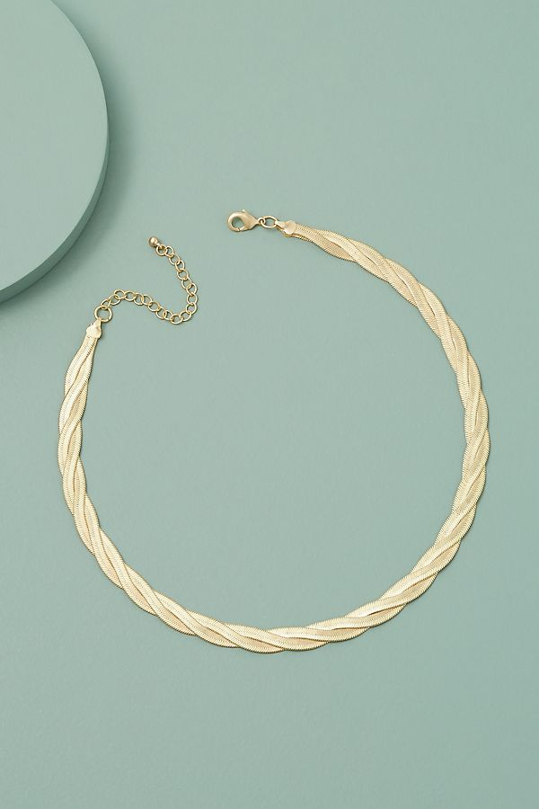 Cleo Flat Chain Necklace by Anthropologie