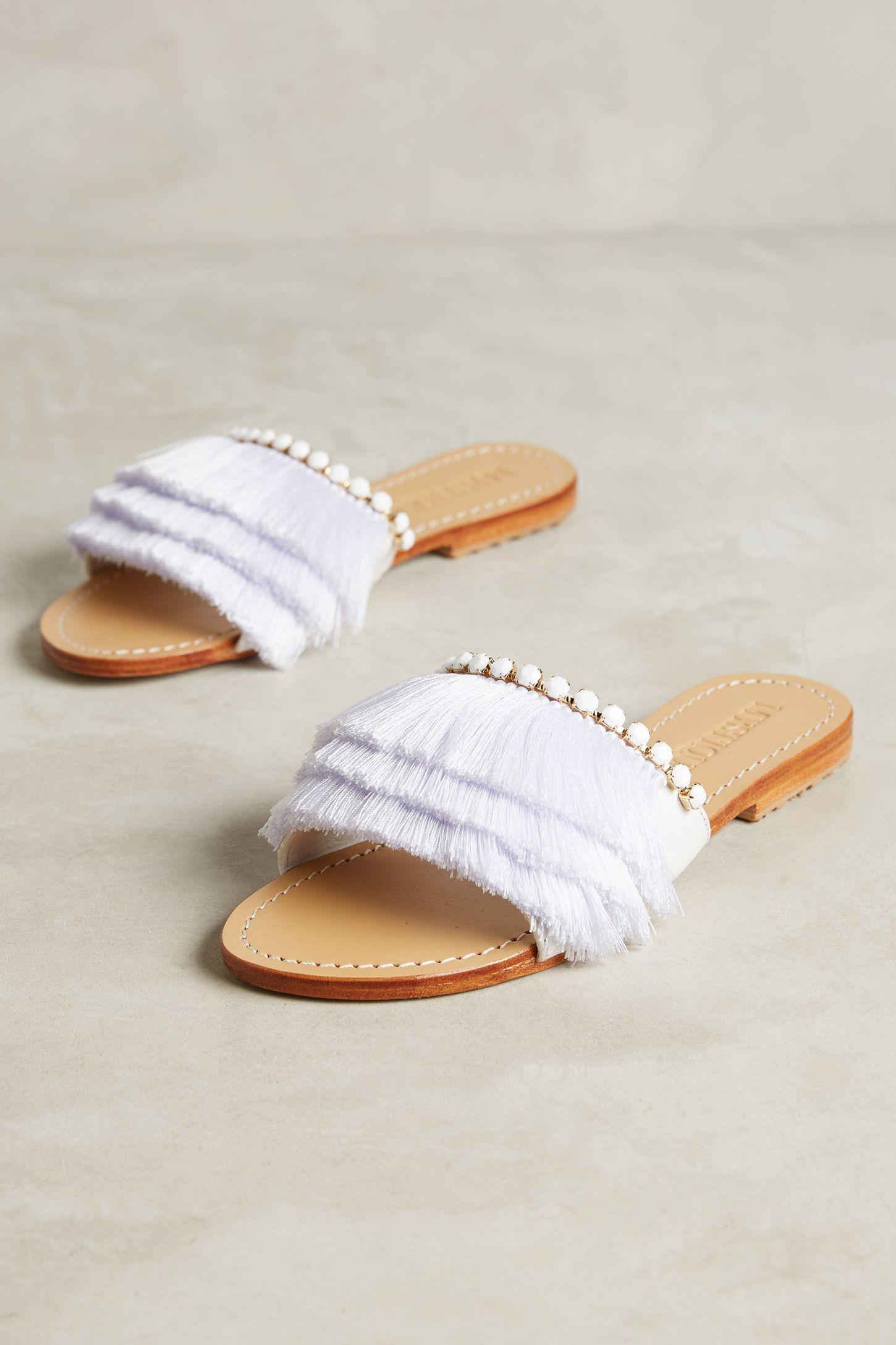 37c5c5da3633 Mystique Fringe Slide Sandals