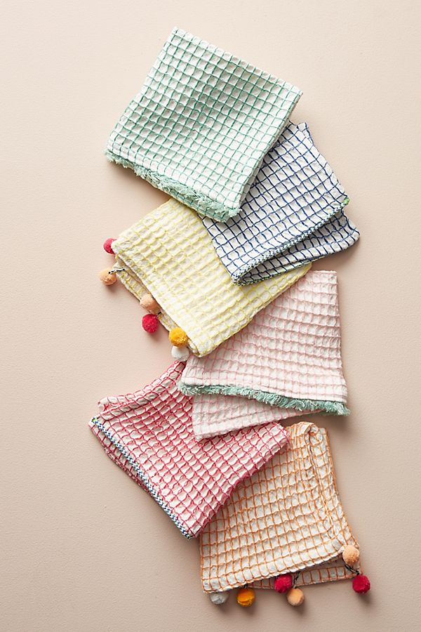 Slide View: 1: Sandira Dish Towels, Set of 6