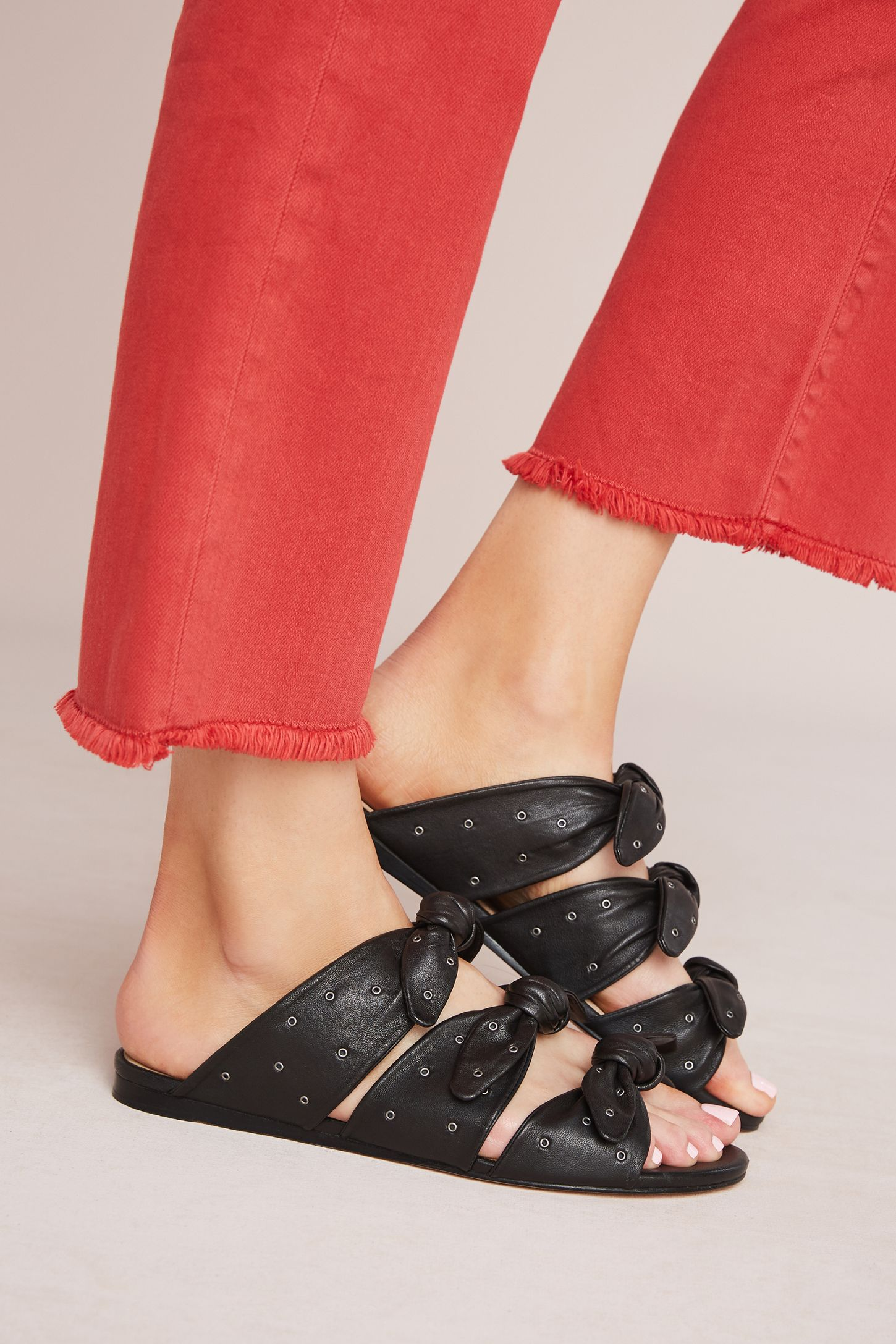 59815e4c245 Pour La Victoire Logan Bow Slide Sandals. Tap image to zoom. Hover your  mouse over an image to zoom. Double Tap to Zoom