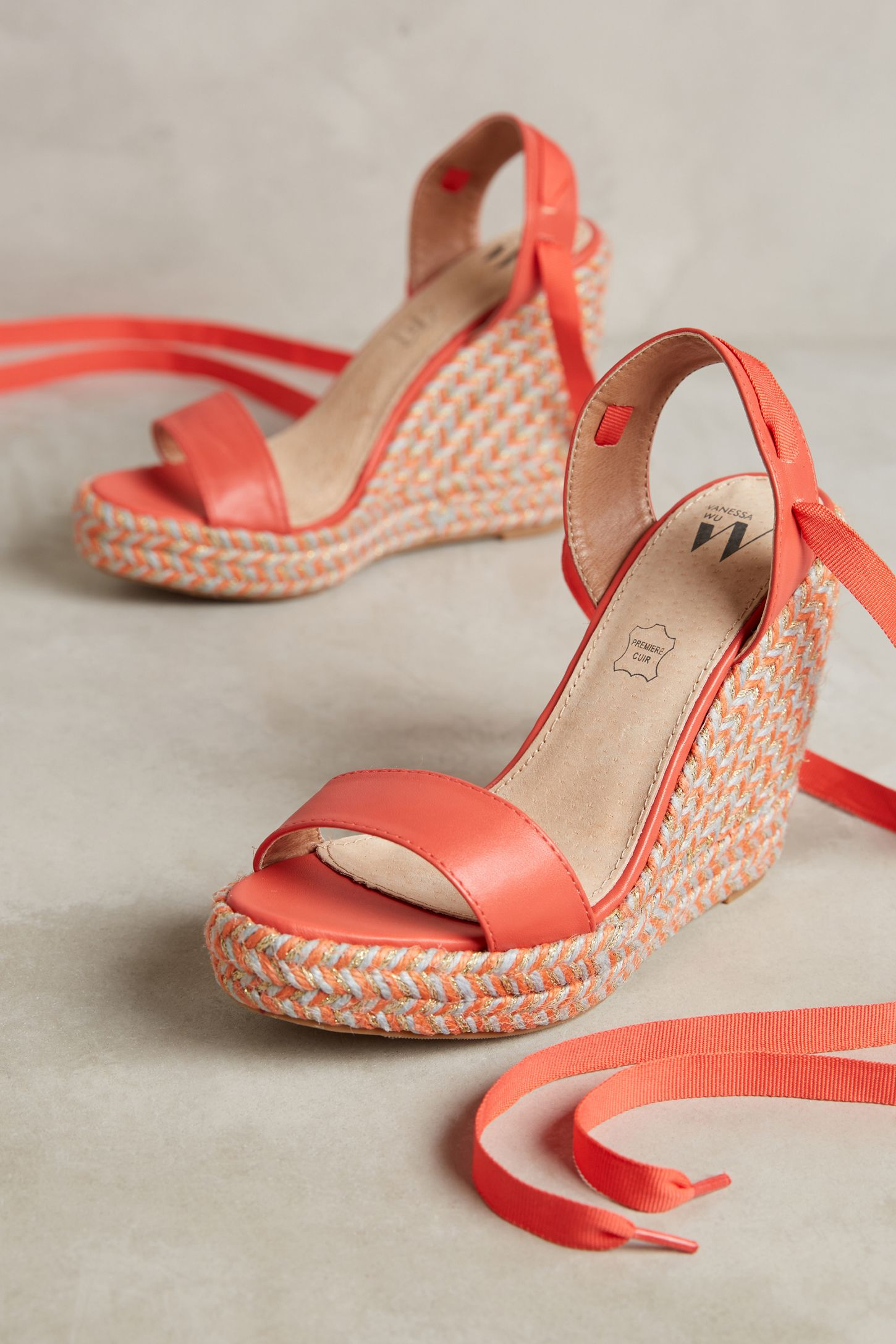 224ab4d7fc4c Vanessa Wu Colorful Wedge Sandals