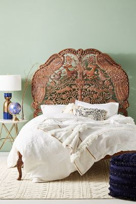 Handcarved Woodland Bed Anthropologie