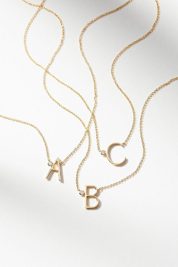 9f0d6dfdf6509 Delicate Monogram Necklace | Anthropologie