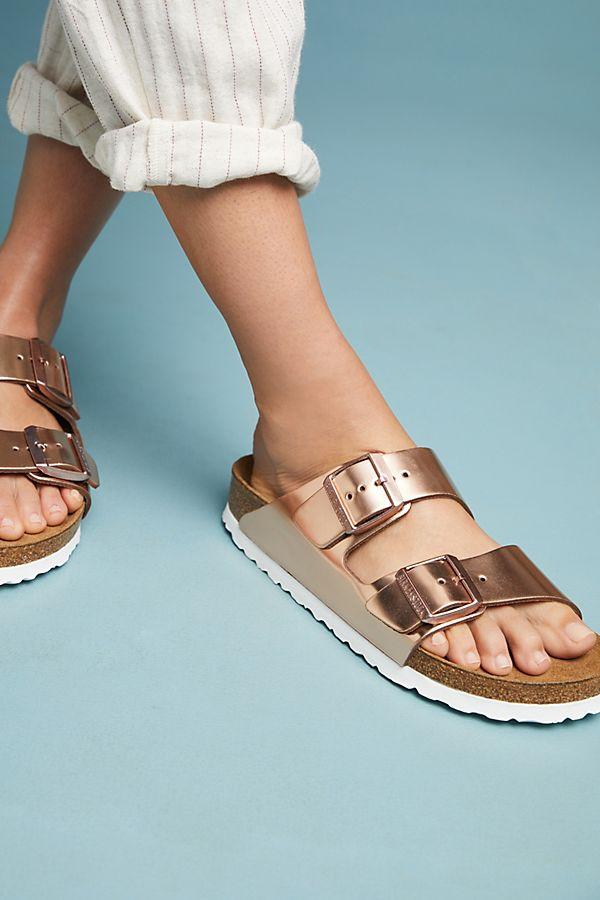 d909242ad Birkenstock Metallic Arizona Sandals   Anthropologie