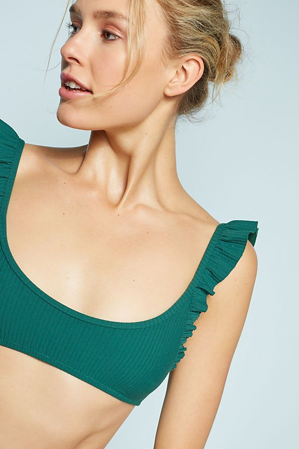 0a6cc89cc55f8 Made By Dawn Petal Ruffled Bikini Top | Anthropologie